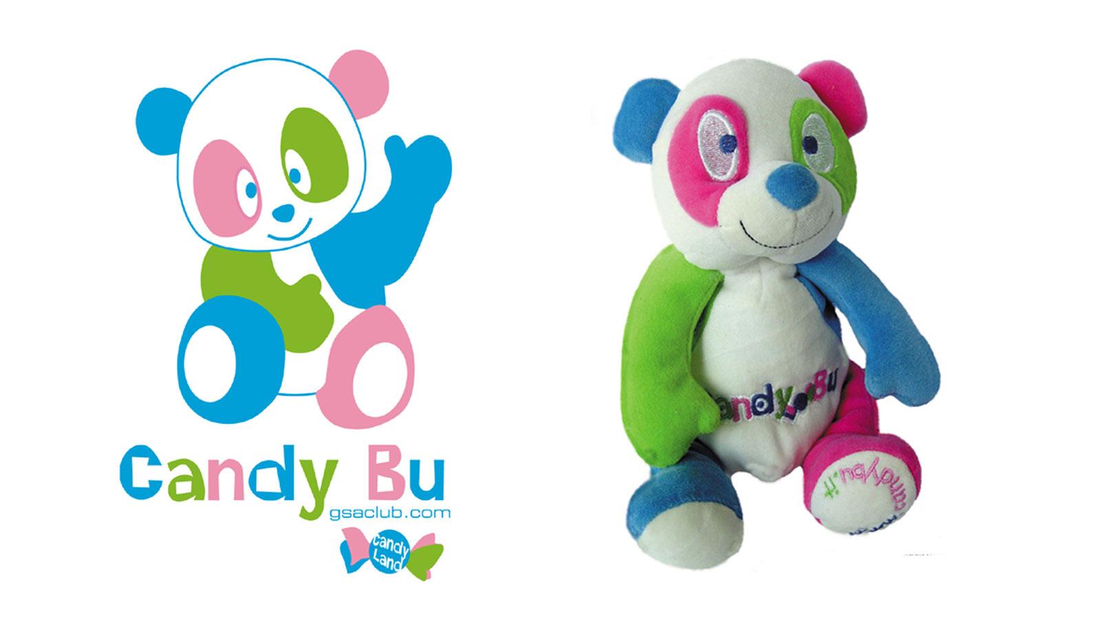 Peluche personalizzato CANDY BU - BY GSA CLUB
