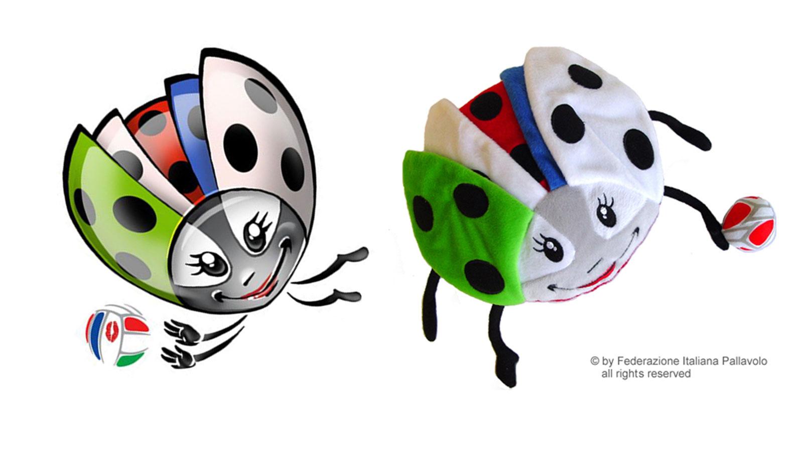Peluche personalizzato FEDERAZIONE ITALIANA PALLAVOLO CAMPIONATI EUROPEI 2011