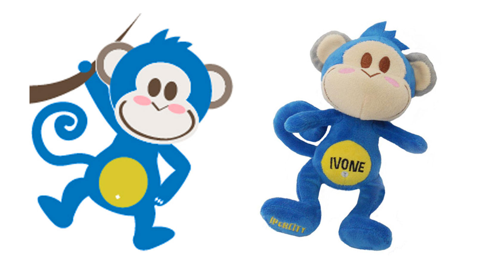 Peluche personalizzato IVONE - BY IPERCITY