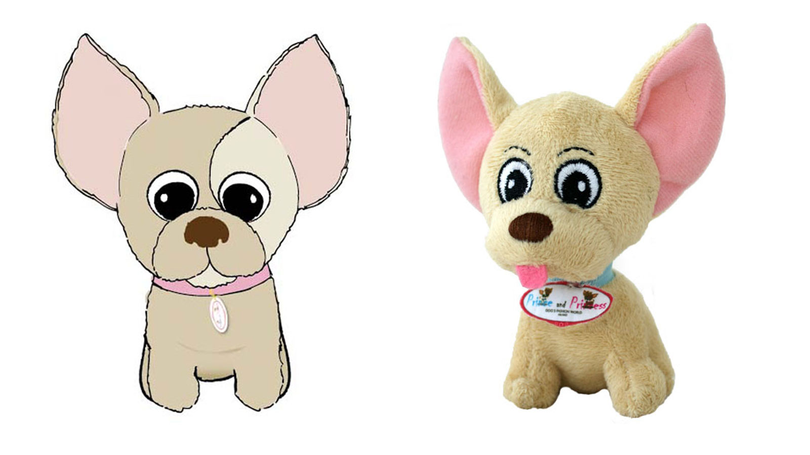 Peluche promozionale CHIHUAHUA - BY PRINCE AND PRINCESS